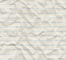 Crinkled lined paper by NemJames