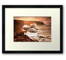 Ocean Burst Kerry Head Framed Print