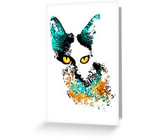 Stray Cat Greeting Card