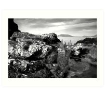 Beach Scene - Drumnacraig Strand, Donegal Art Print
