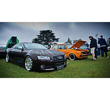 Audi & MK1 Golf Photographic Print