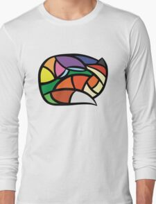 Digital Stained-Glass Fox Long Sleeve T-Shirt
