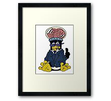 Brainy Tux Glass Dome Framed Print