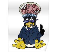 Brainy Tux Glass Dome Poster