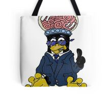 Brainy Tux Glass Dome Tote Bag