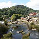 River Dee and Llangollen railway station by Peter  Thomas