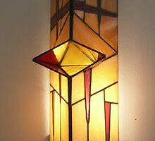 Triangular Lamp with Red Tears by cishvilli