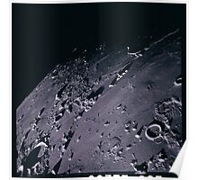 Apollo Archive 0149 Moon Craters from Orbit Poster