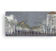 Umbrellas On Chapala Canvas Print