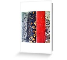 Wet Red Greeting Card