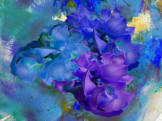 Blue Orchids by Mistyarts