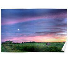 Prairie Sunset - Saskatchewan, Canada Poster