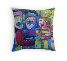 Revelations of a pale day / Monkey Mind Throw Pillow