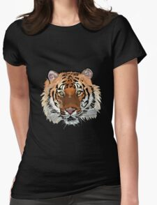 Tiger vector Womens Fitted T-Shirt