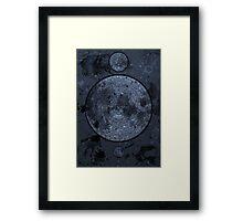 Spell Book -Blue Framed Print