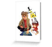 Gravity Falls- Dipper and Grunkle Ford Greeting Card
