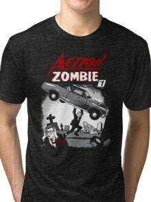 Action Zombie #1 Tri-blend T-Shirt