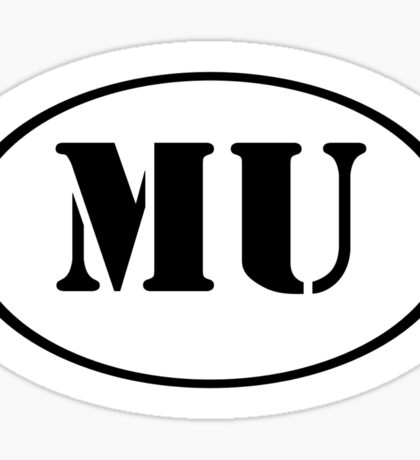 MU Oval Logo Sticker