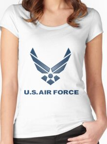 U.  S. Air Force Symbol Women's Fitted Scoop T-Shirt