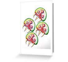 Metroids Greeting Card
