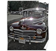 Antique 1948 Plymouth - Cruise Night - Oak Harbour - Exeter RI Poster
