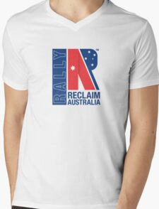 Reclaim Australia Logo Mens V-Neck T-Shirt