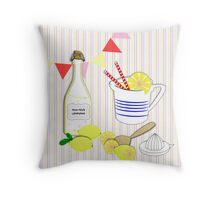 Home Made Fresh Fruity Lemonade Throw Pillow