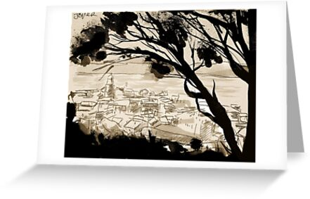 landscape with forground trees by Loui  Jover
