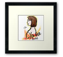 Clara Oswald Cute Short Hair - Angelic Framed Print