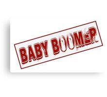Baby Boomer Stamp Canvas Print