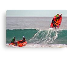 Kimberley Gee gets some air at Anglesea Canvas Print
