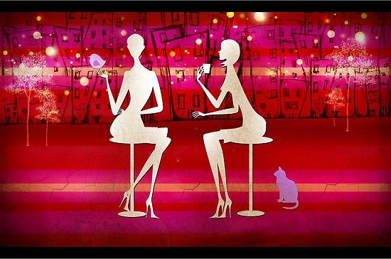 café de soirée avec des amis... by vampvamp