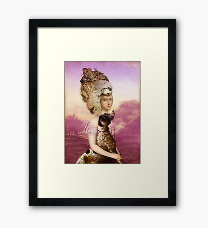 Her best friend Framed Print