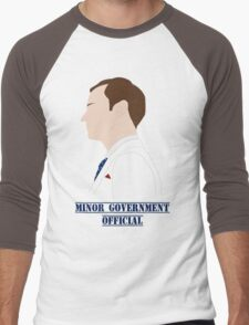Minor Government Official [Blue Tie Edition] Men's Baseball ¾ T-Shirt