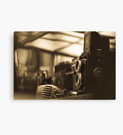 Old TLR camera Canvas Print