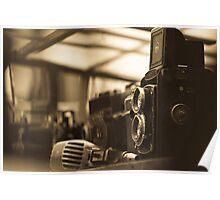 Old TLR camera Poster