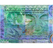 Buddha Blessing quote Photographic Print