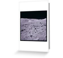 Apollo Archive 0165 Moon Mountains Rocks and Rover Tracks on Lunar Surface Greeting Card