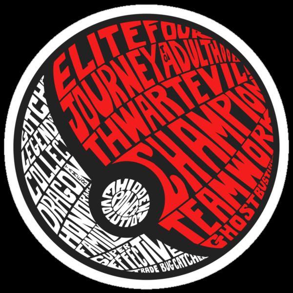 Sticker: A Wordy Pokebadge by joshmirm