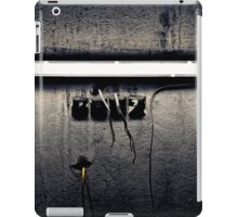 fluorescent lamp on a industry wall iPad Case/Skin
