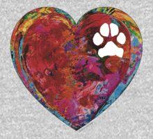 Dog Art - Puppy Love 2 - Sharon Cummings Kids Tee