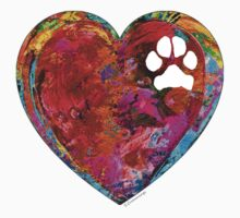 Dog Art - Puppy Love 2 - Sharon Cummings Kids Tee