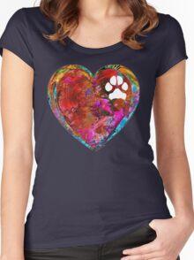 Dog Art - Puppy Love 2 - Sharon Cummings Women's Fitted Scoop T-Shirt