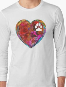 Dog Art - Puppy Love 2 - Sharon Cummings Long Sleeve T-Shirt