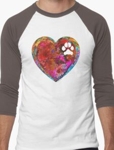 Dog Art - Puppy Love 2 - Sharon Cummings Men's Baseball ¾ T-Shirt