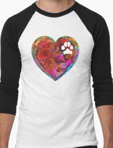 Dog Art - Puppy Love 2 - Sharon Cummings Men's Baseball ¾ T-Shirt