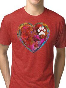 Dog Art - Puppy Love 2 - Sharon Cummings Tri-blend T-Shirt