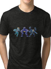 Pokemon - Machop, Machoke, Machamp Tri-blend T-Shirt