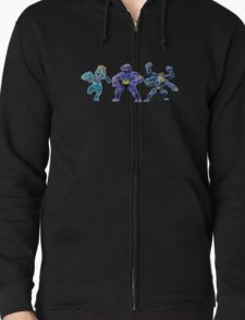 Pokemon - Machop, Machoke, Machamp Zipped Hoodie