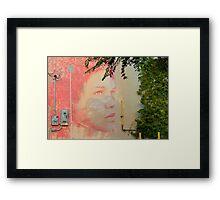 Face Mural Framed Print
